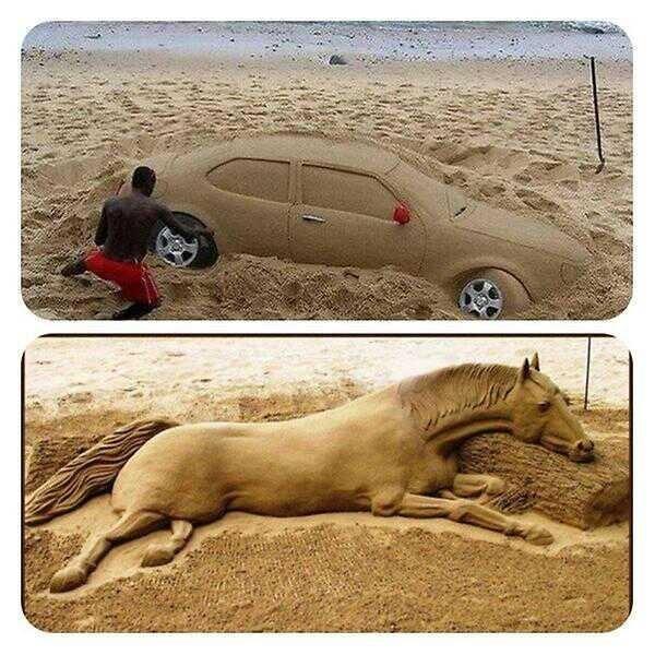 صورة الرسم على الرمل , فن بمعنى الكلمة