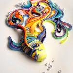 فن الرسم بالورق , صور من الفنون المعاصره حديثا