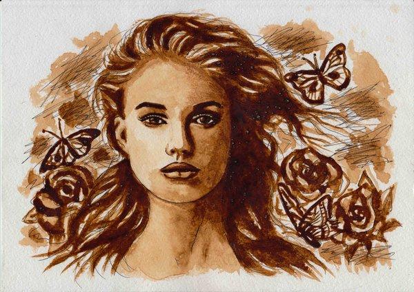 بالصور فن الرسم بالقهوة , من احدث  الفنون الجديده 3812 4