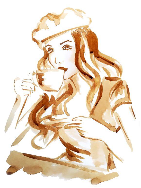 بالصور فن الرسم بالقهوة , من احدث  الفنون الجديده 3812 6