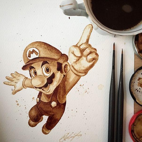 بالصور فن الرسم بالقهوة , من احدث  الفنون الجديده 3812 8
