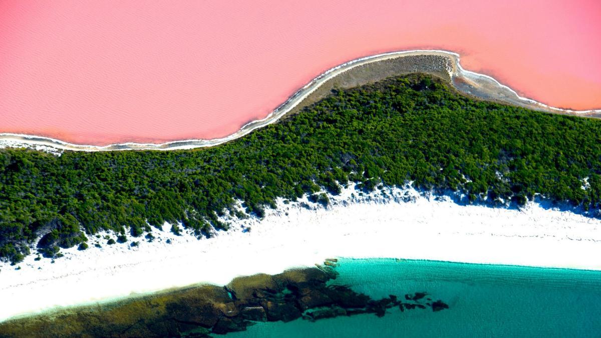 صور صور البحيره الورديه , مناظر متعدده وخطيرة للبحيرة