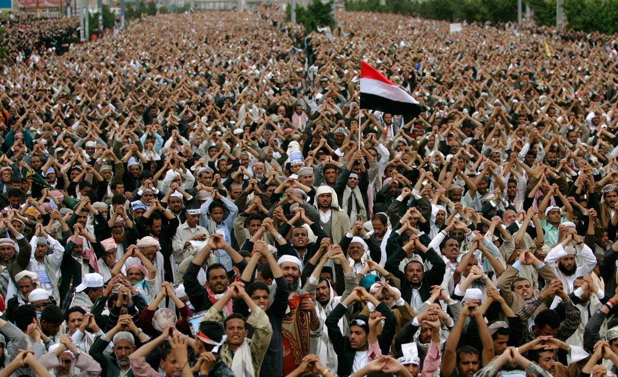 صوره صور من ثورة اليمن , صورة نادره في حكم علي عبد الله صاالح