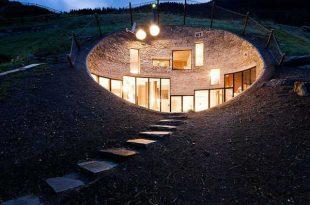 صورة منزل تحت الارض , صور بيوت غريبه