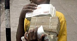 اغبى عملة في العالم , عملة زيمبابوى فى الضياع