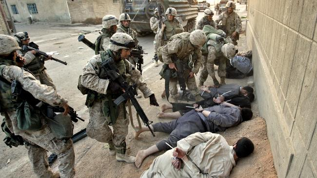 صورة الحرب على العراق , الغزو على العراق