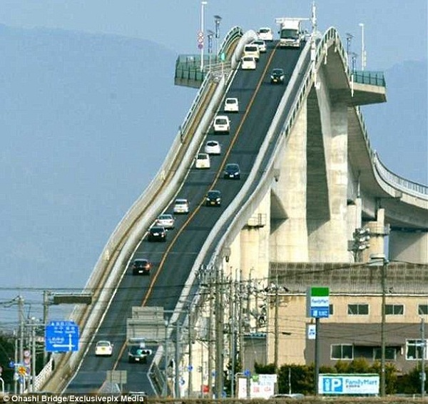 صورة اخطر جسر في العالم , اوهاشي اغرب واعجب اخترعات اليابان