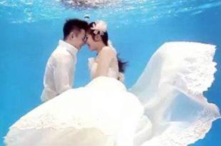 صوره زواج تحت الماء , صور اخر تقاليع الزواج