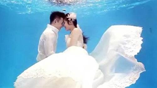 زواج تحت الماء , صور اخر تقاليع الزواج