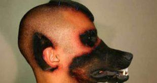 رجل يحول نفسه الى كلب , صور لجنون البشر
