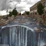 فن الرسم على الارض , الابداع ورسوم احترافية