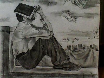 صورة اجمل الرسومات الفنية , لوحات فنية مذهلة