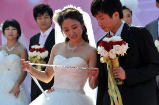 صوره صور زواج جماعي , في حديقة هيديان في بكين