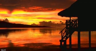 غروب الشمس على شاطئ البحر , سحر الطبيعة الخلابة