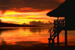 صوره غروب الشمس على شاطئ البحر , سحر الطبيعة الخلابة