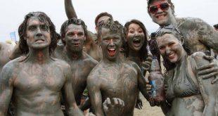 صور مهرجان الطين , متعة وترفية ومرح في الوحل
