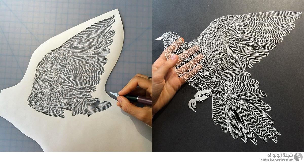 صورة فن تقطيع الورق , صورا مذهلة من منحوتات يدوية