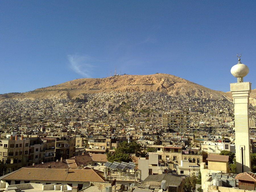 صورة جبل قاسيون سوريا , اجمل صور تطل علي دمشق