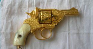 مسدس من ذهب ,  احدث ما صنع من الذهب