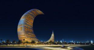 صور برج الهلال في دبي , صور ناطحات السحاب علي شكل هلال