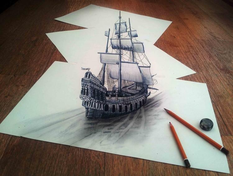 صورة لوحات فنية ثلاثية الابعاد , صور من الابداع الفني الراقي