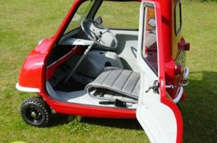 صورة اصغر سيارة في العالم , عربية عجيبة طولها 132سم