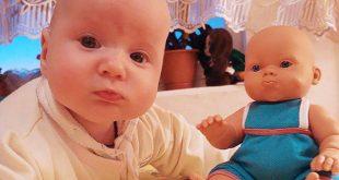 صور اطفال يشبهون العابهم , طبق الاصل من الدمي