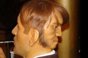 صوره الرجل ذو الوجهين , صور غريبة سبحان الخالق