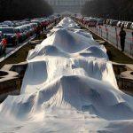 اطول فستان زفاف في العالم , يدخل موسعة جينيس للارقام القياسبة