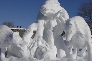 صوره النحت على الثلج , صور مجسمات من الجليد