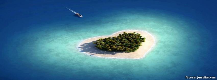 بالصور عندما تتحدث الصور , جزر طبيعية علي شكل قلب 4569 5