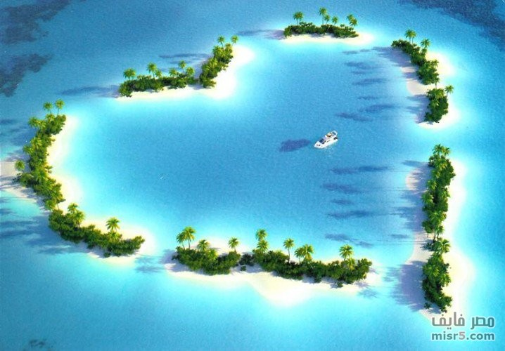 بالصور عندما تتحدث الصور , جزر طبيعية علي شكل قلب 4569 9