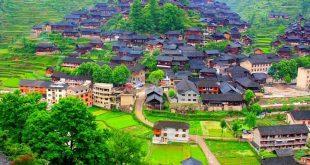 صوره قرية صينية مثل لوحة زيتية , اماكن سياحيه فوق الخيال