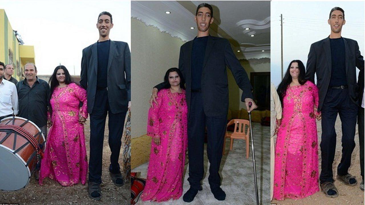 صوره اطول رجل في العالم , اطول رجل في العالم يتزوج من سورية ويصفها بانها حب حياته