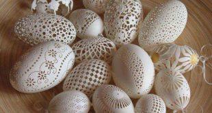 فن الرسم على البيض , فن النحت على البيض
