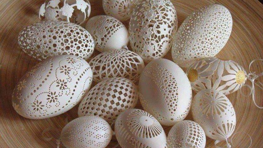 صورة فن الرسم على البيض , فن النحت على البيض