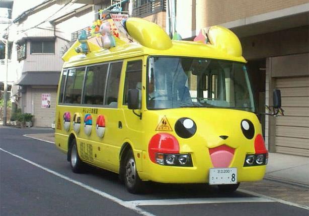 صورة باصات المدارس في اليابان , حافلات مدارس الاطفال في اليابان تدهش العالم