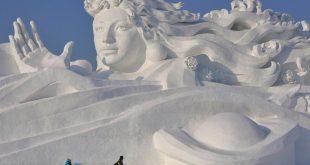 فن النحت على الجليد , الابداع فى فن النحت على الجليد