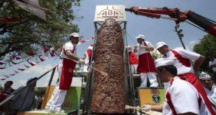 اكبر شاورما في العالم , لمحبى الشاورما اكبر سيخ شاورما فى العالم