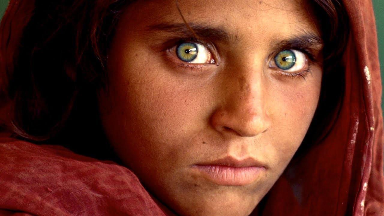 صوره فتاه افغانيه تبهر العالم بجمال عينيها , شربات جولا اشهر صورة في العالم