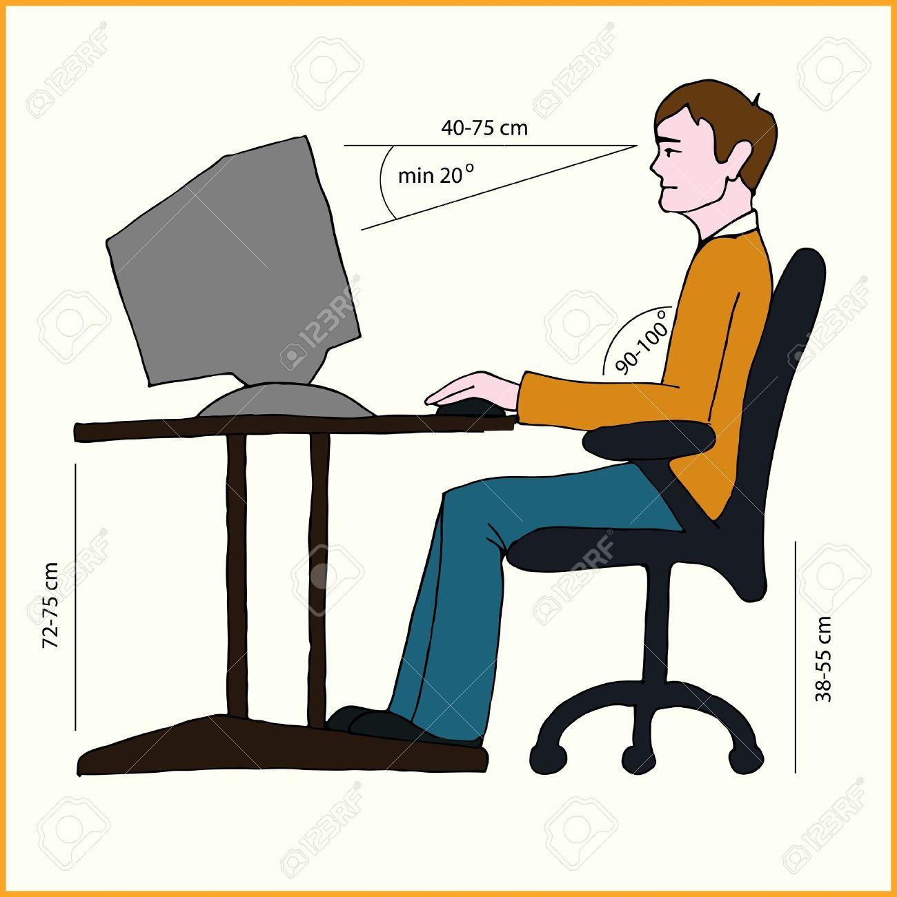 صور الجلسة الصحية امام الكمبيوتر , بالصور كيف اجلس بشكل صحيح امام الحاسب الالي