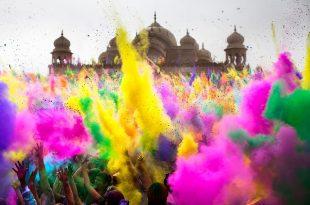 بالصور عيد الالوان عند الهنود عادات غريبة , مهرجان هولي للالوان 174 8 310x205