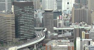 طريق سريع يمر من داخل مبنى سكني في اليابان , اغرب صور لطريق سريع