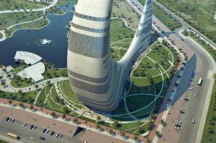 صوره دبي تبني برج جديد على شكل هلال القمر , ناطحة سحاب الهلال في دبي