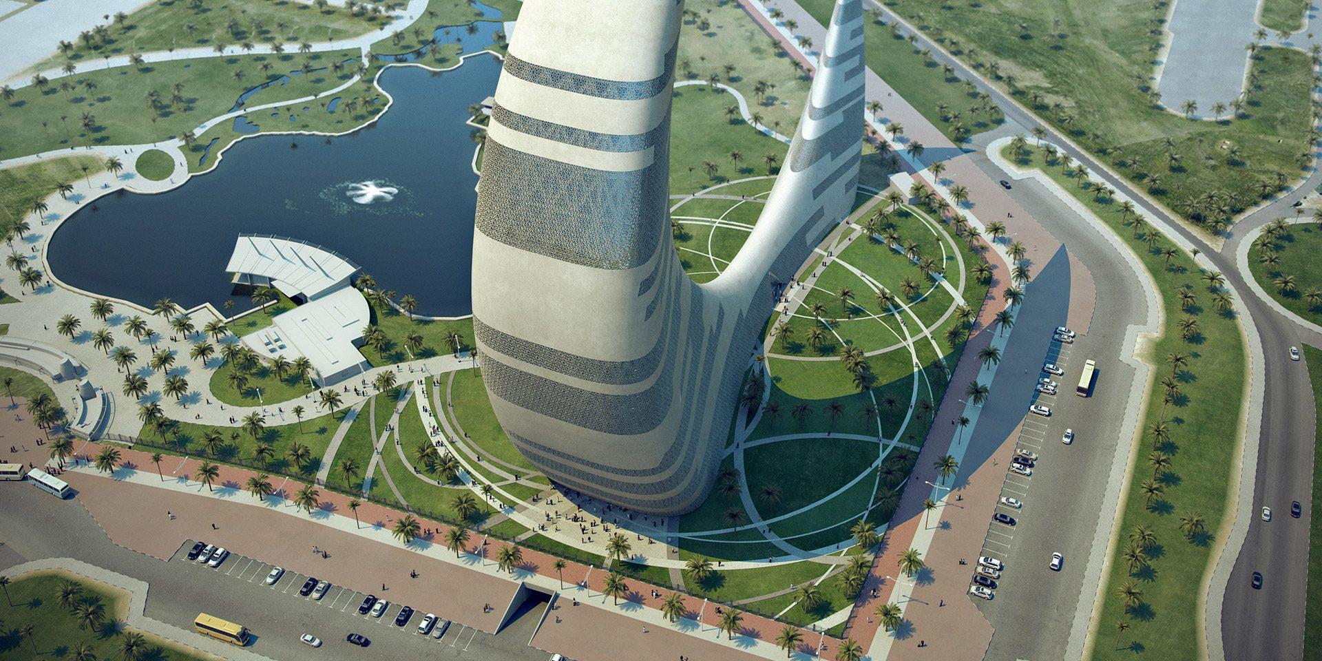 صور دبي تبني برج جديد على شكل هلال القمر , ناطحة سحاب الهلال في دبي