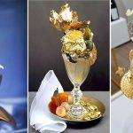 اغلى انواع الحلويات في العالم , صور لحلوى من الذهب