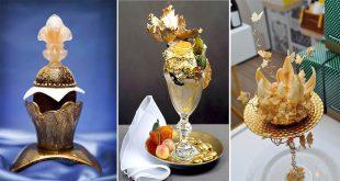 صوره اغلى انواع الحلويات في العالم , صور لحلوى من الذهب