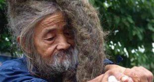 صور رجل هندي لم يغسل شعره منذ ولادته , غرائب وعجائب الشعوب