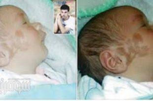 صوره طفل يولد واسمه مكتوب على خده , صور رائعة لقدرة الله