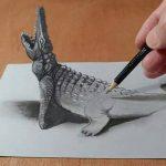 رسم ثلاثي الابعاد بقلم الرصاص , اروع واجمل رسومات الخداع البصري